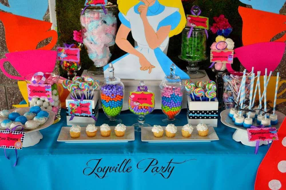 Alice in wonderland birthday party ideas photo of girls parties th also rh pinterest