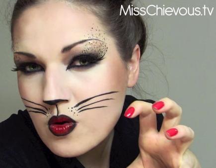 10 Fierce Halloween Cat Makeup Ideas | Halloween cat