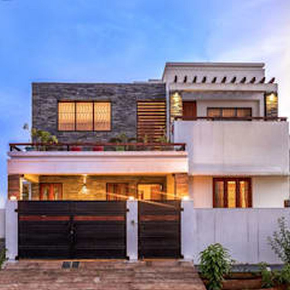 Ultra Modern House Design Floor Plans Using Average Cost To Paint House Nz And Front Doors For Sal Modern House Plans House Paint Exterior House Balcony Design