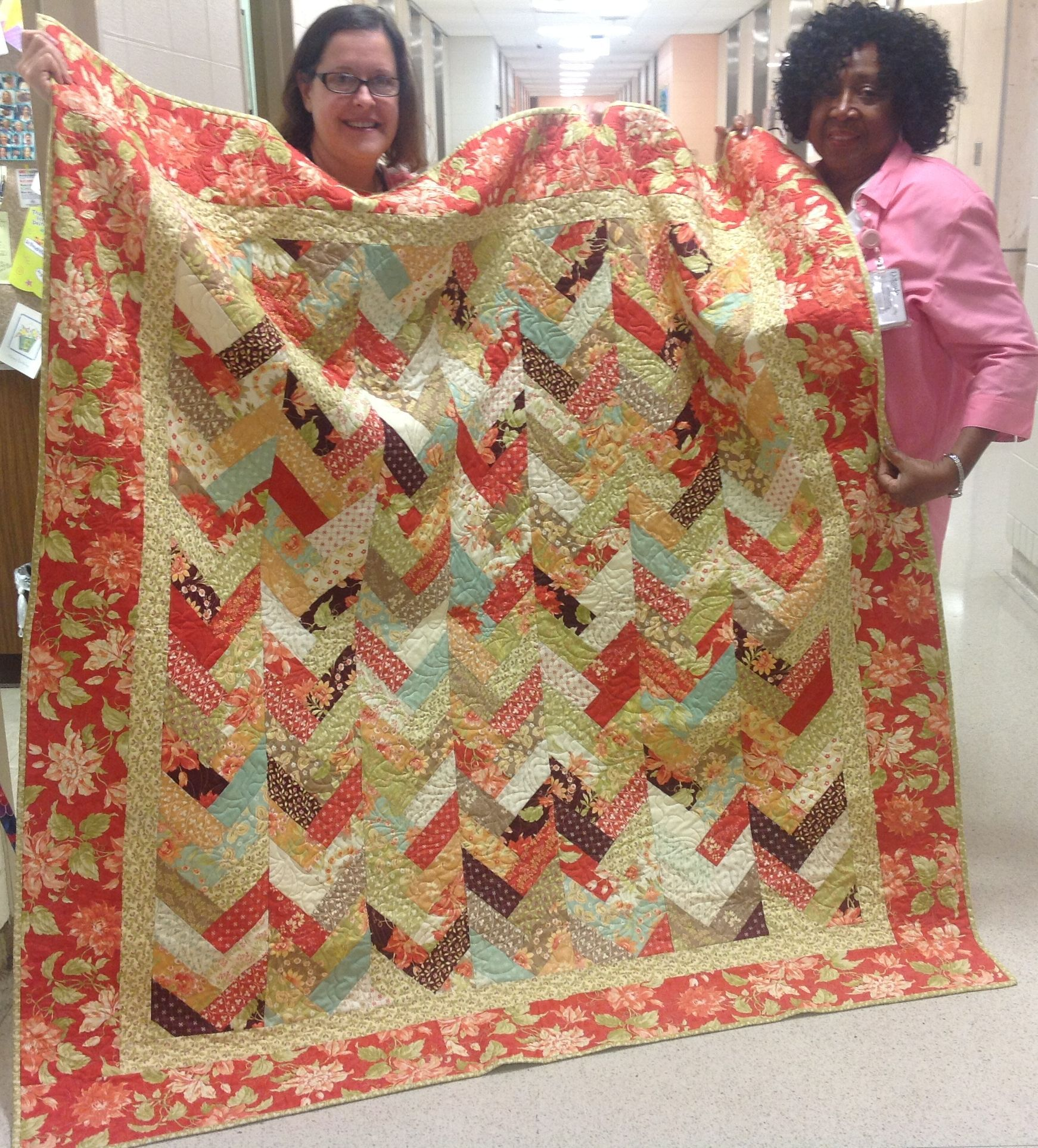 A Friendship Braid Quilt I Made For Bernices Birthday Sewing