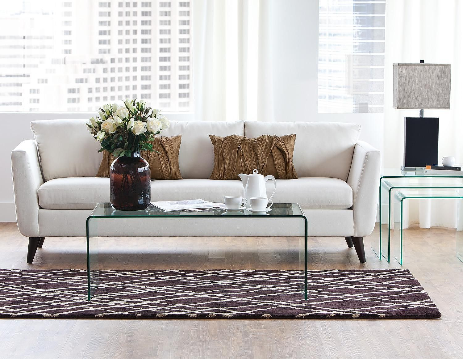 Glass coffee table at structube fun with home style - Brickmakers coffee table living room ...