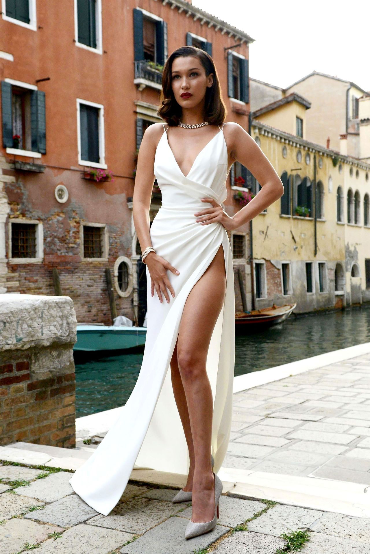 765bcaa5fc Bella Hadid in Venice. Bella Hadid in Venice Evening Gowns