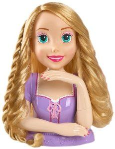 Amazon Com Disney Princess Deluxe Rapunzel Styling Head Doll Toys Games Disney Princess Rapunzel Toys For Girls Princess Rapunzel