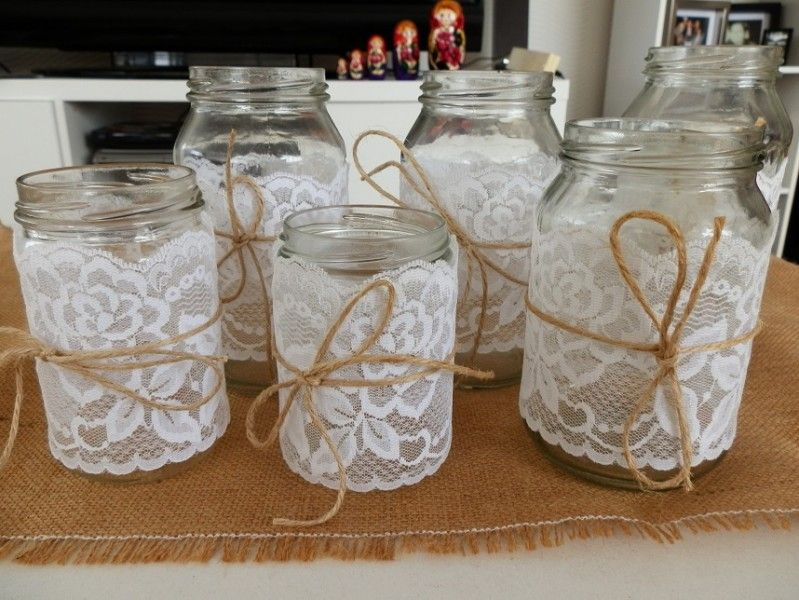Decorating Jars With Lace Gorgeous Rustic Wedding Reception Table Decorations  Google Search Review