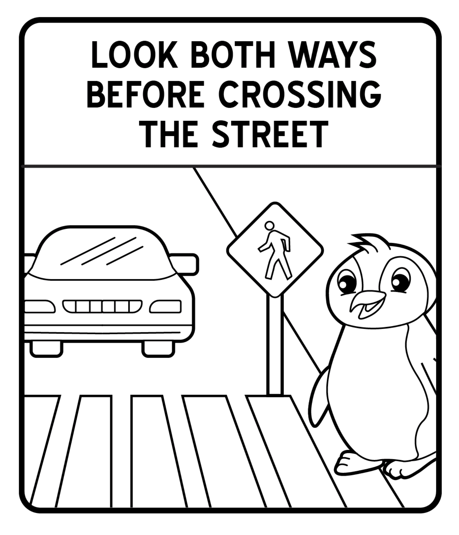 Traffic Signs Coloring Pages Encouraging Kids To Move
