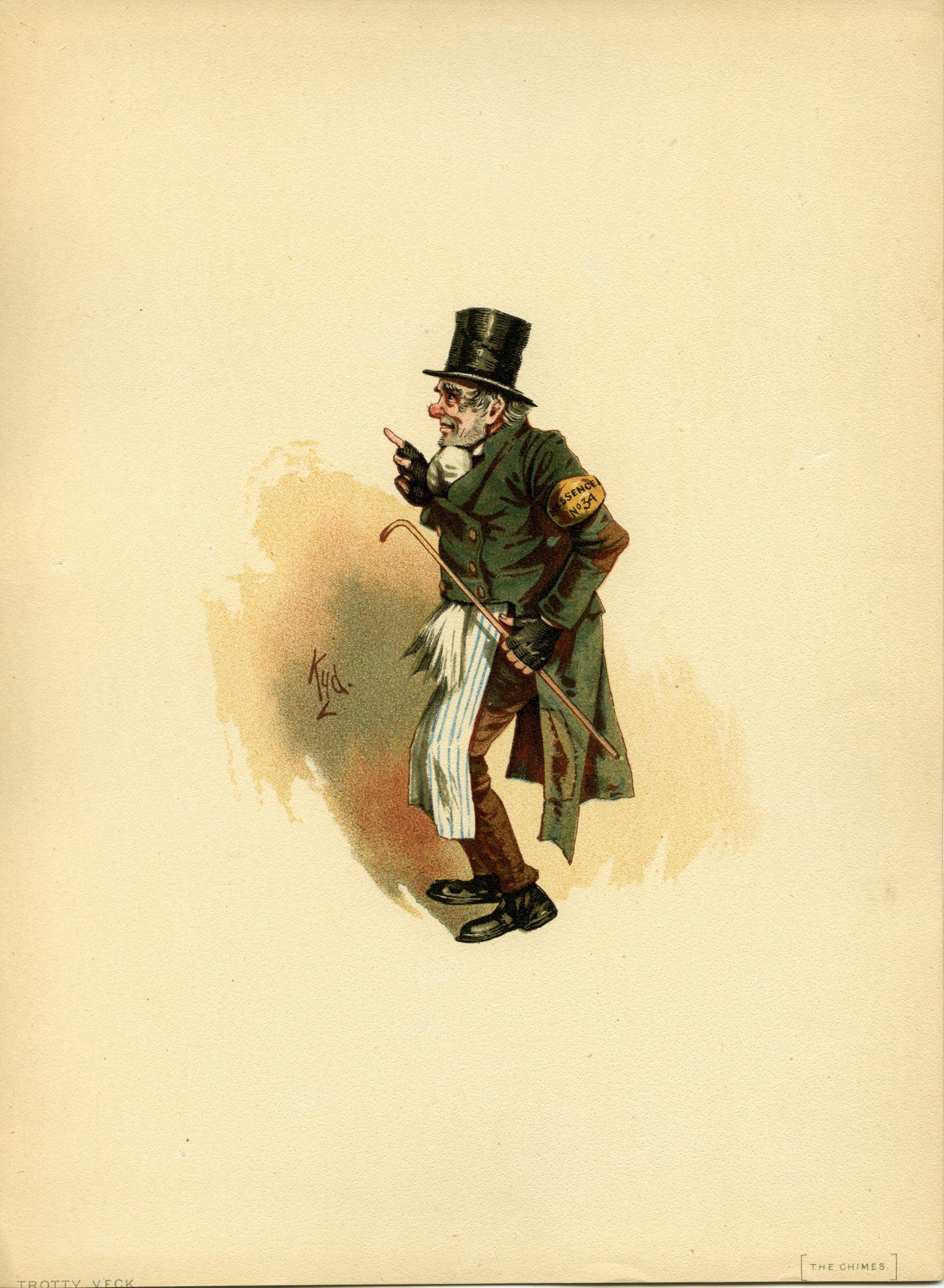 1890 Character Sketches Charles Dickens Kyd Joseph Clayton Clarke Tuck Character Sketches Dickens Character