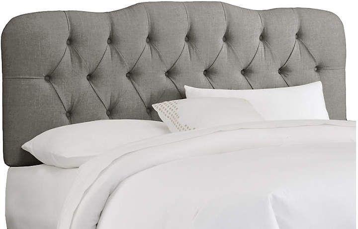 Davidson Tufted Headboard Gray Linen Cal King Headboards For Beds Full Headboard Home