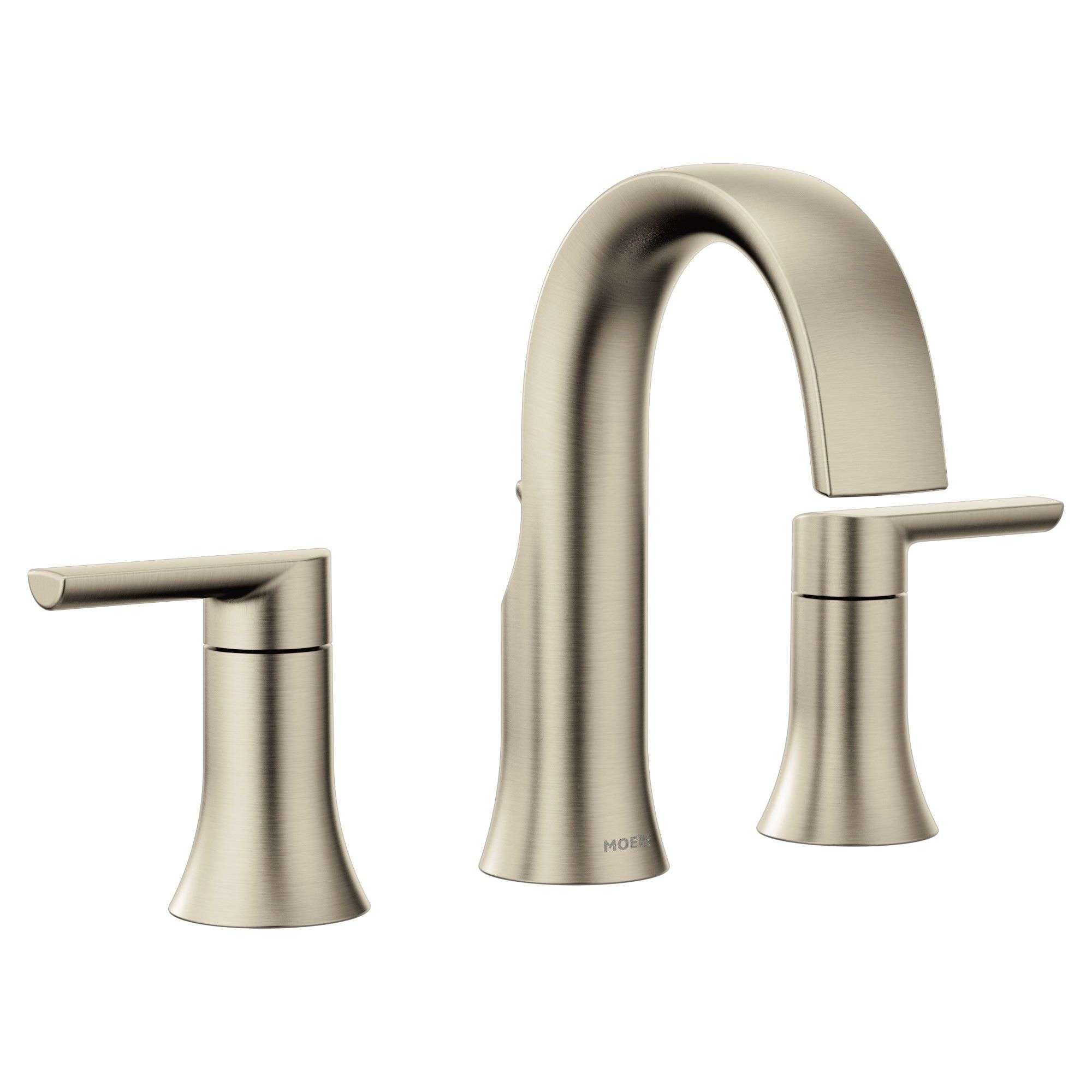Moen Ts6925 Doux 1 2 Gpm Widespread Bathroom Faucet Less Valve And Drain Assembly Brushed Nickel In 2019 Bathroom Faucets Widespread Bathroom Faucet Sink Faucets