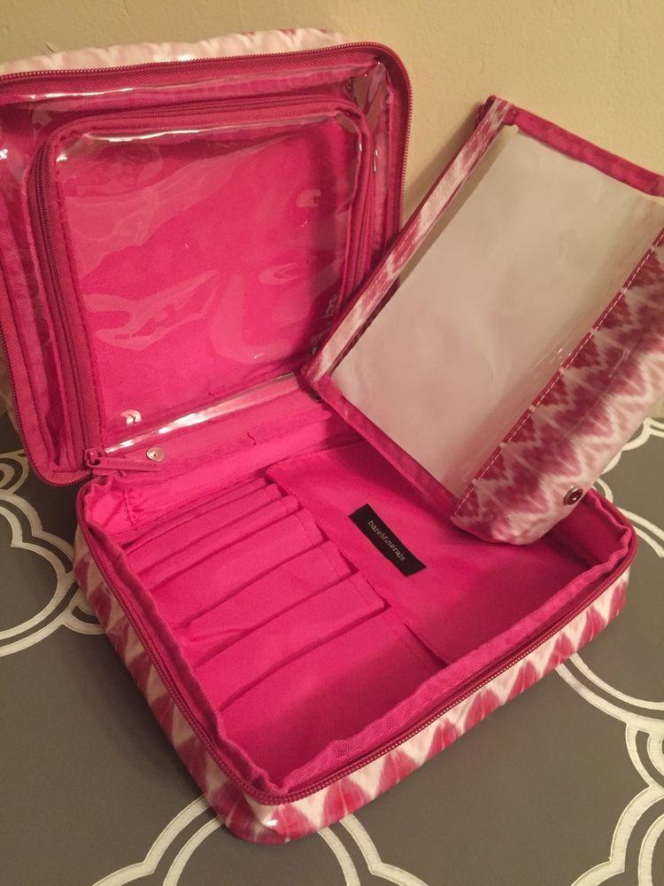 Bare Minerals Escentuals New Large Organizer Cosmetic Bag Fresh Forward 9x7 Bareminerals