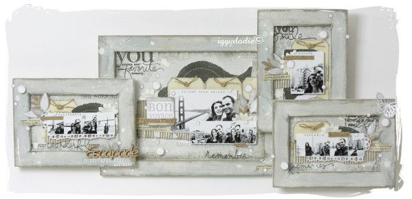 nouveau mini kit atelier m li m lo de cadres id es scrapbooking pinterest. Black Bedroom Furniture Sets. Home Design Ideas