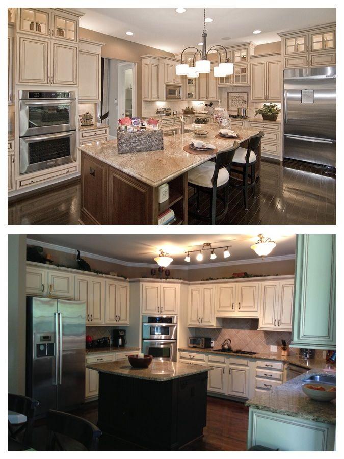 My Dream Kitchen Inspiration Vs My Interpretation Painted Maple Cabinets Antique White Almond Kitchen Inspirations Top Kitchen Cabinets Diy Kitchen Cabinets