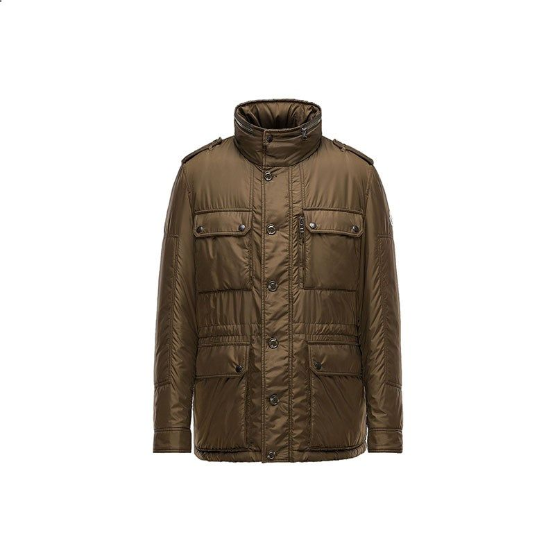 154eb6e1c Men Moncler Dark Green Guilland Military-Style Padded Jacket ...