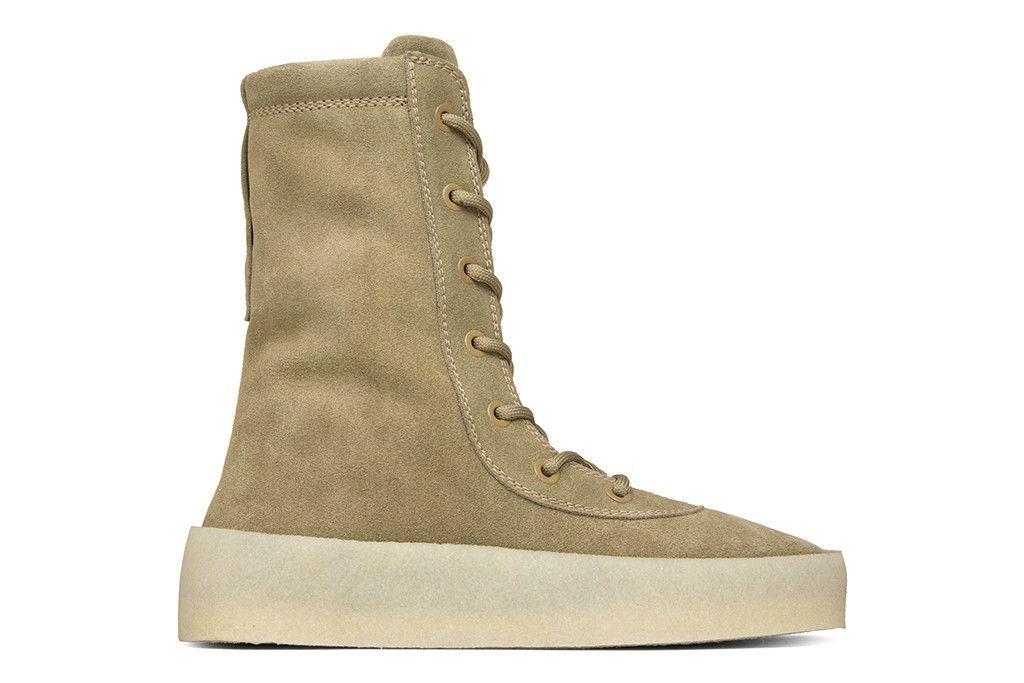 0bee76400f328 Yeezy Season 4 Crepe Boot - Taupe