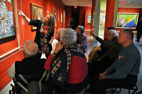 "Alzheimer's patients reconnect though #art. ""Art offers them a way of communication that doesn't rely on their verbal skills and allows them to contribute in a way that they don't often get to do."""