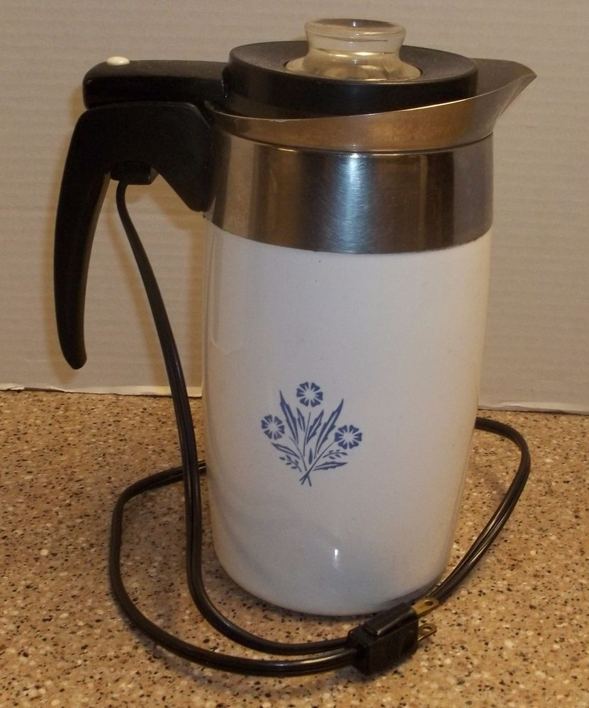 Vintage CORNING WARE Electric COFFEE/Maker Pot PERCULATOR