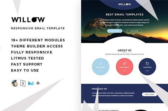 Willow Email Template Builder At Creativework247 Email Design