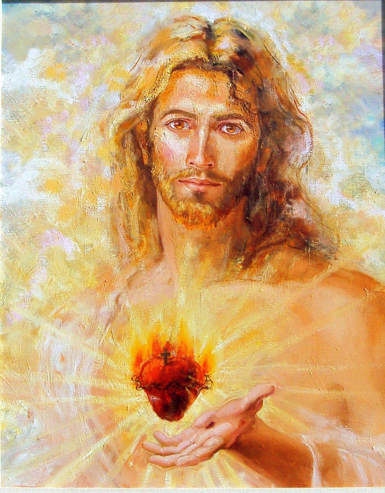 Why The Sacred Heart Jesus Painting Jesus Drawings Sacred Heart Art