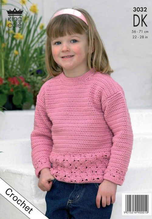 Crochet Childrens Jumper King Cole Crochet Patterns Pinterest