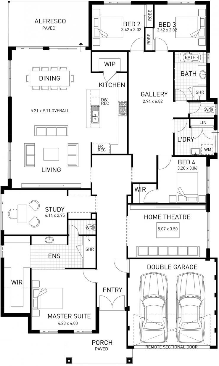 Wonderful Hampton Style House Plans #10: New Hampton, Single Storey Home Design Master Floor Plan, WA