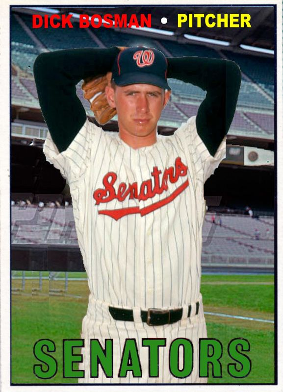 Baseball Cards Picturing All Qualifying Washington Sentators Rostered Players For 1966