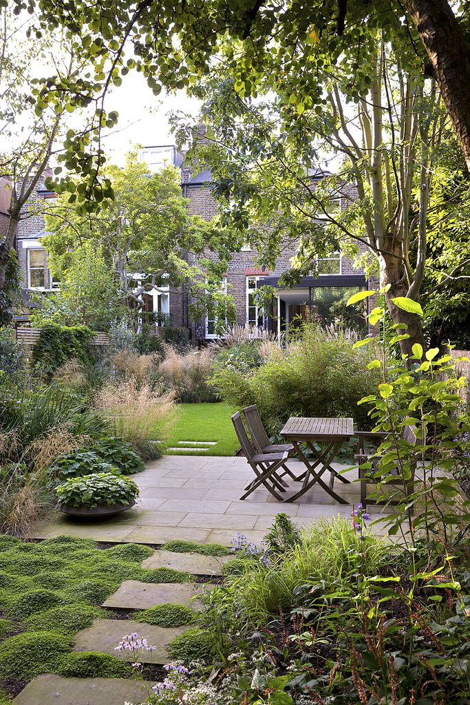 Great garden design for a long narrow city garden path for Great backyard designs
