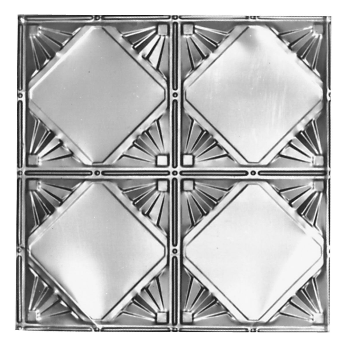 24 Inch X 48 Inch Plate Pattern 307 12 Inch Repeat Tin Ceilings