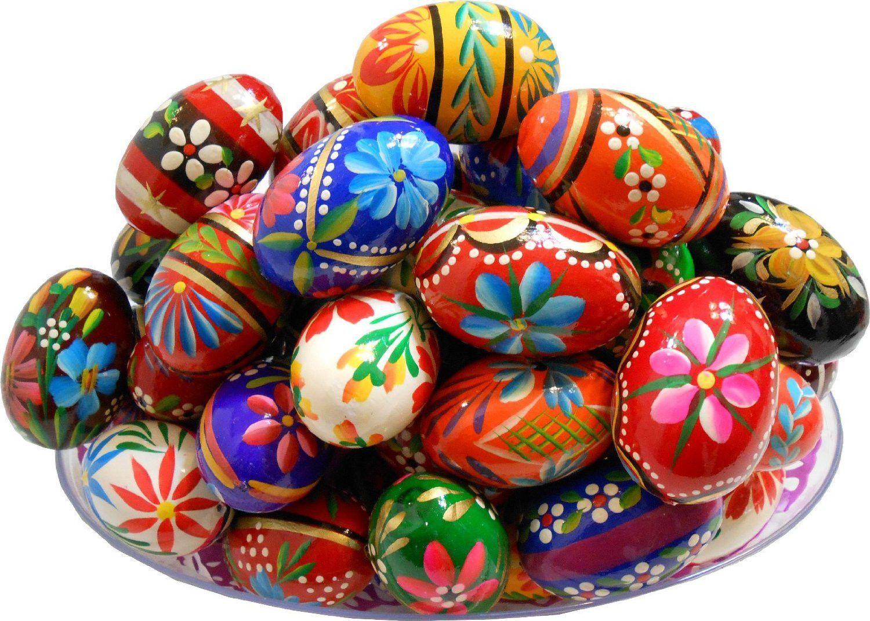 set of 3 polish easter handpainted wooden eggs pisanki easter