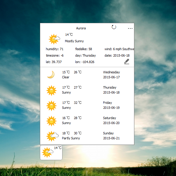 Pin by Windows Personalization on Weather Gadgets Win7