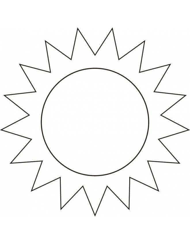 Disegno Di Il Sole Da Colorare Per Bambini Con Immagini