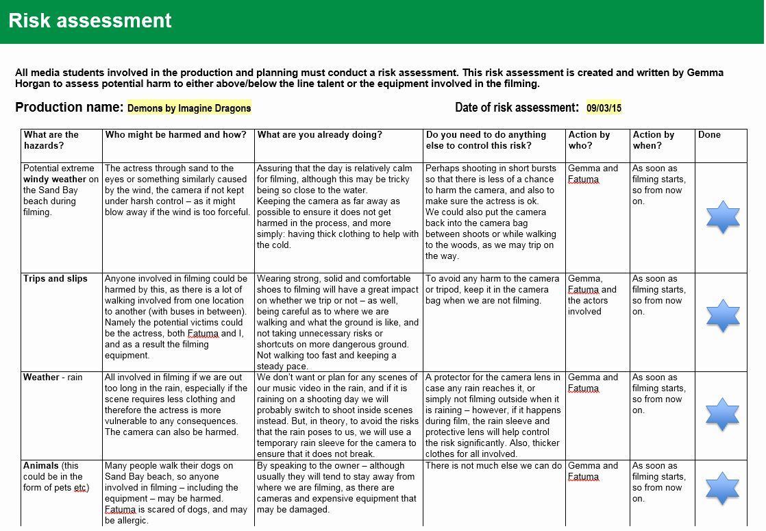 It Risk Assessment Template In 2020 Risk Management Assessment