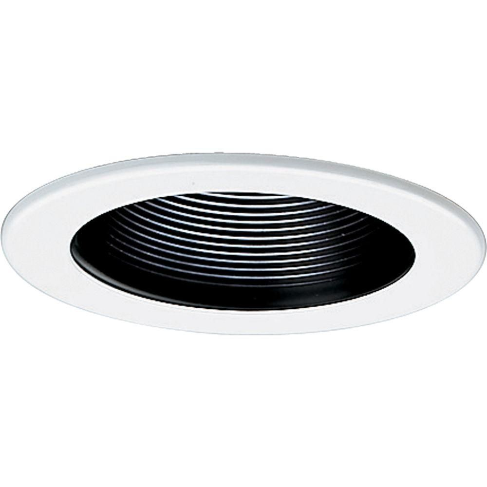 Progress Lighting 4 In 12 Volt Black Recessed Baffle Trim