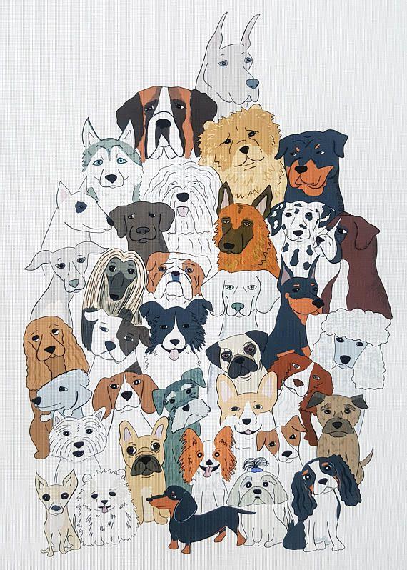 Dog Wall Art Dog Father S Day Gift Pug Gift Beagle Dog Wall Art Dog Print Art Dog Art