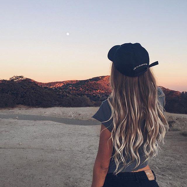 Imagem De Hair Girl And Sunset