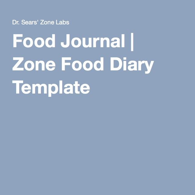 Food Journal Zone Food Diary Template Healthy Me Pinterest - food journal templates
