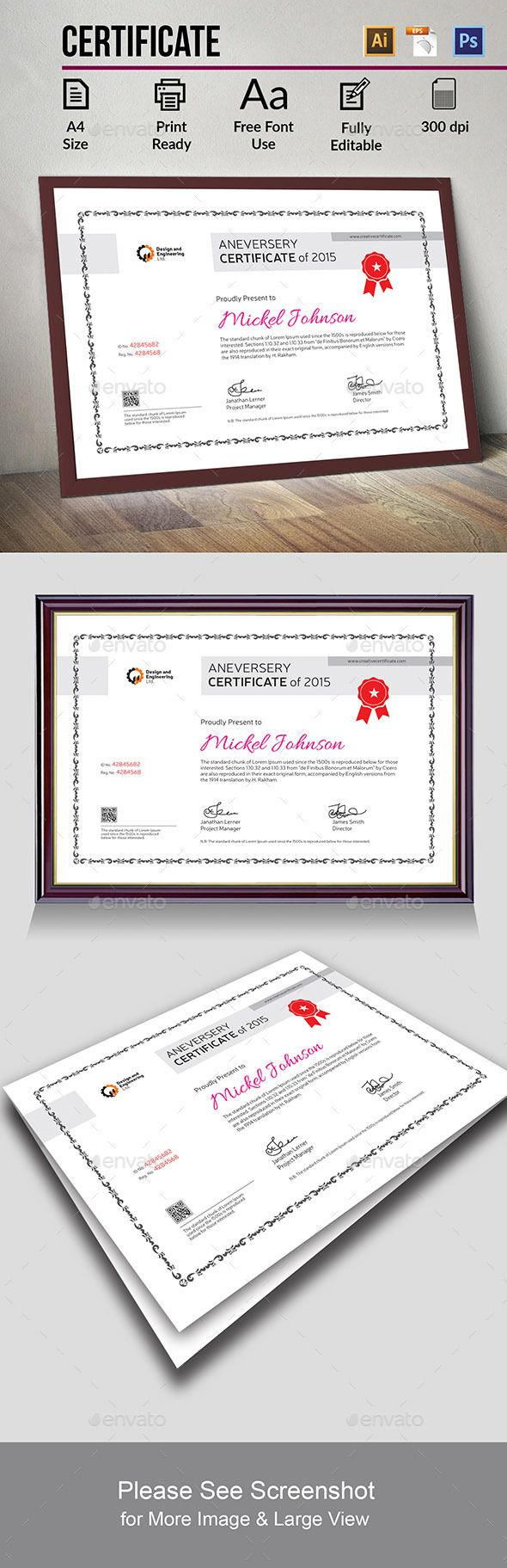 Certificate Certificate Template Psd Vector Ai Download Here
