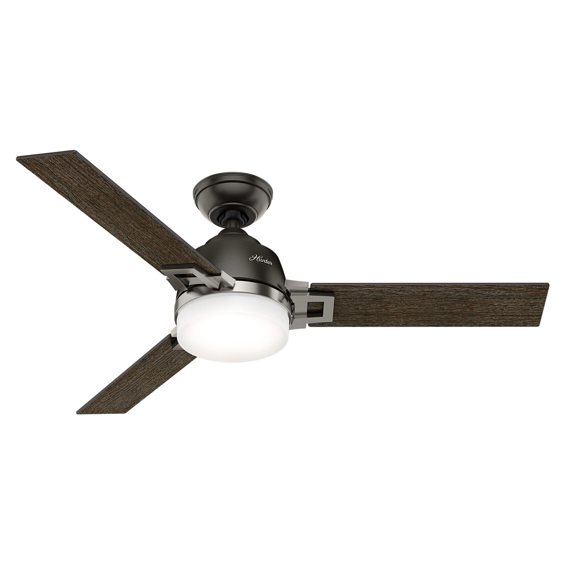 Leoni Ceiling Fan With Light By Hunter Fan Hun 59219 With Images Ceiling Fan With Light Bronze Ceiling Fan Ceiling Fan With Remote