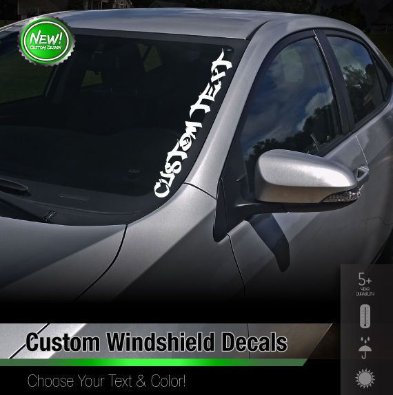 Custom Text Windshield Banner Car Sticker Vinyl Honda Acura Jdm Euro