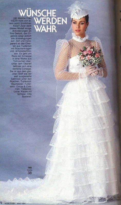 1984, Burda moden | Vintage/retro wedding | Pinterest ...
