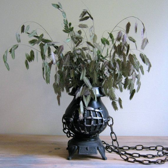 Sexton Pot Belly Stove Hanging Planter by NaturalVintage on Etsy