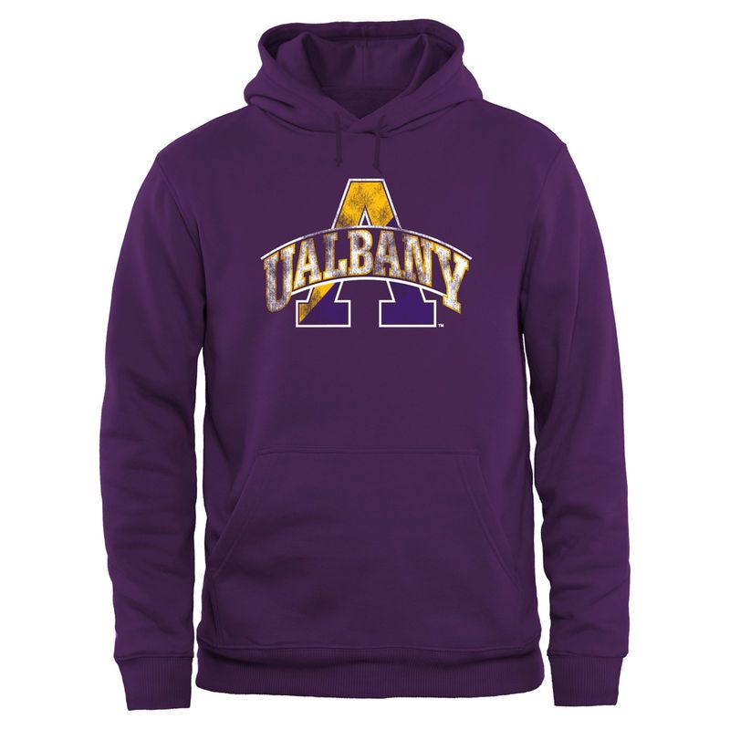Albany Great Danes Big & Tall Classic Primary Pullover Hoodie - Purple