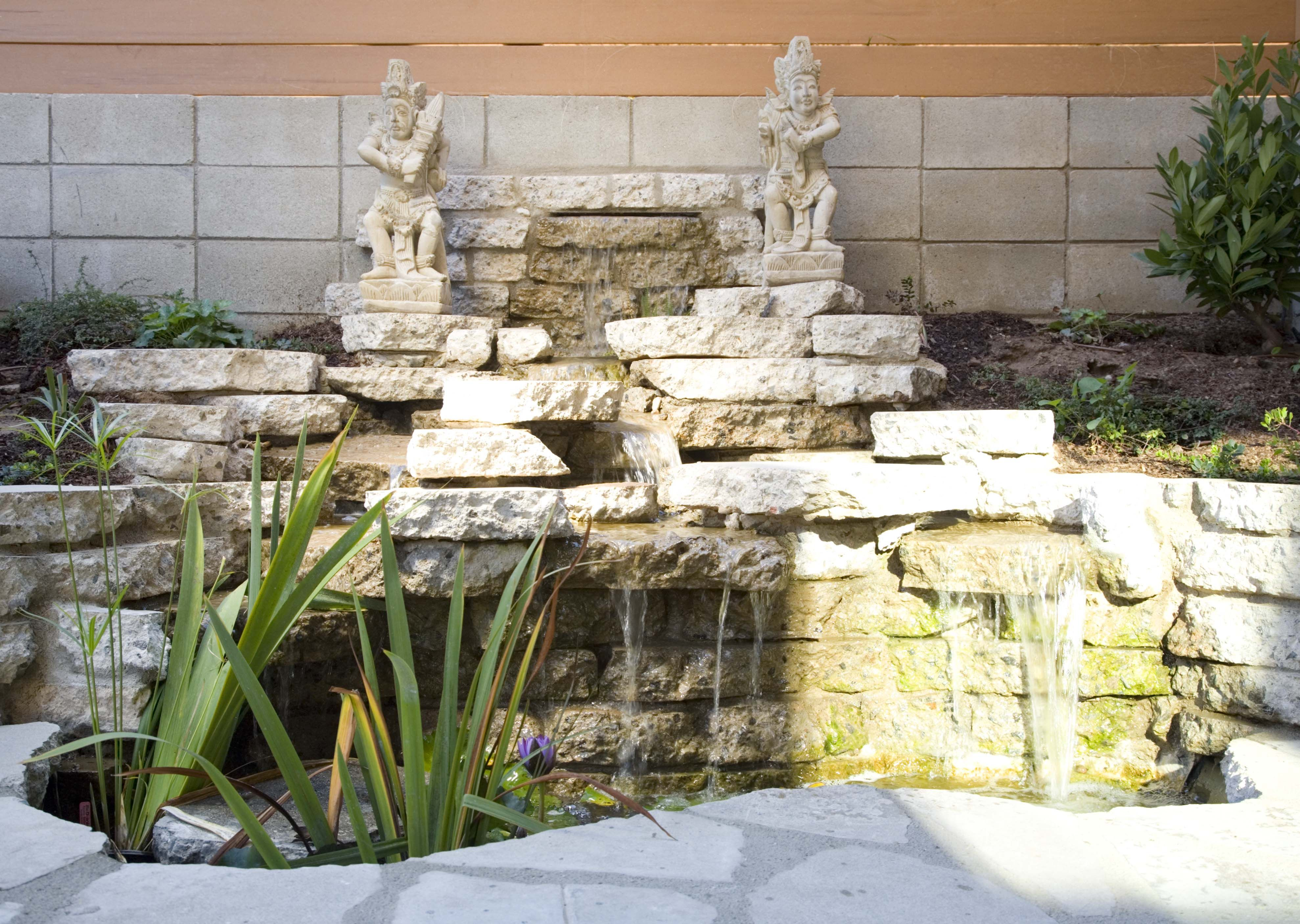 Waterfall With Recycled Concrete