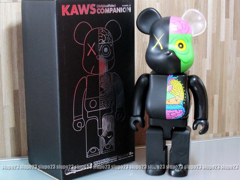 4d1ea3a6 Medicom 400% Bearbrick ~ Kaws Original Fake Dissected Be@rbrick Black Color  #Medicom