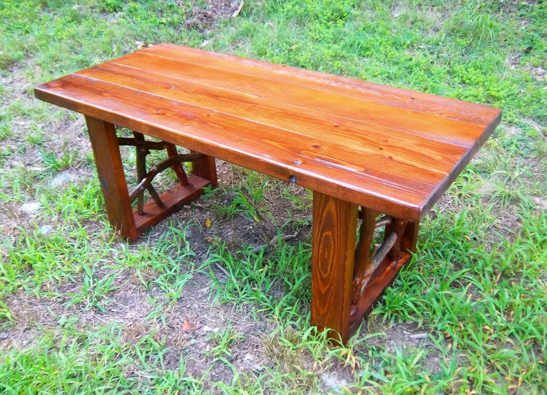 Rustic Modern Handmade Mountain Laurel Box And Pine Coffee Cocktail - Pine coffee table set