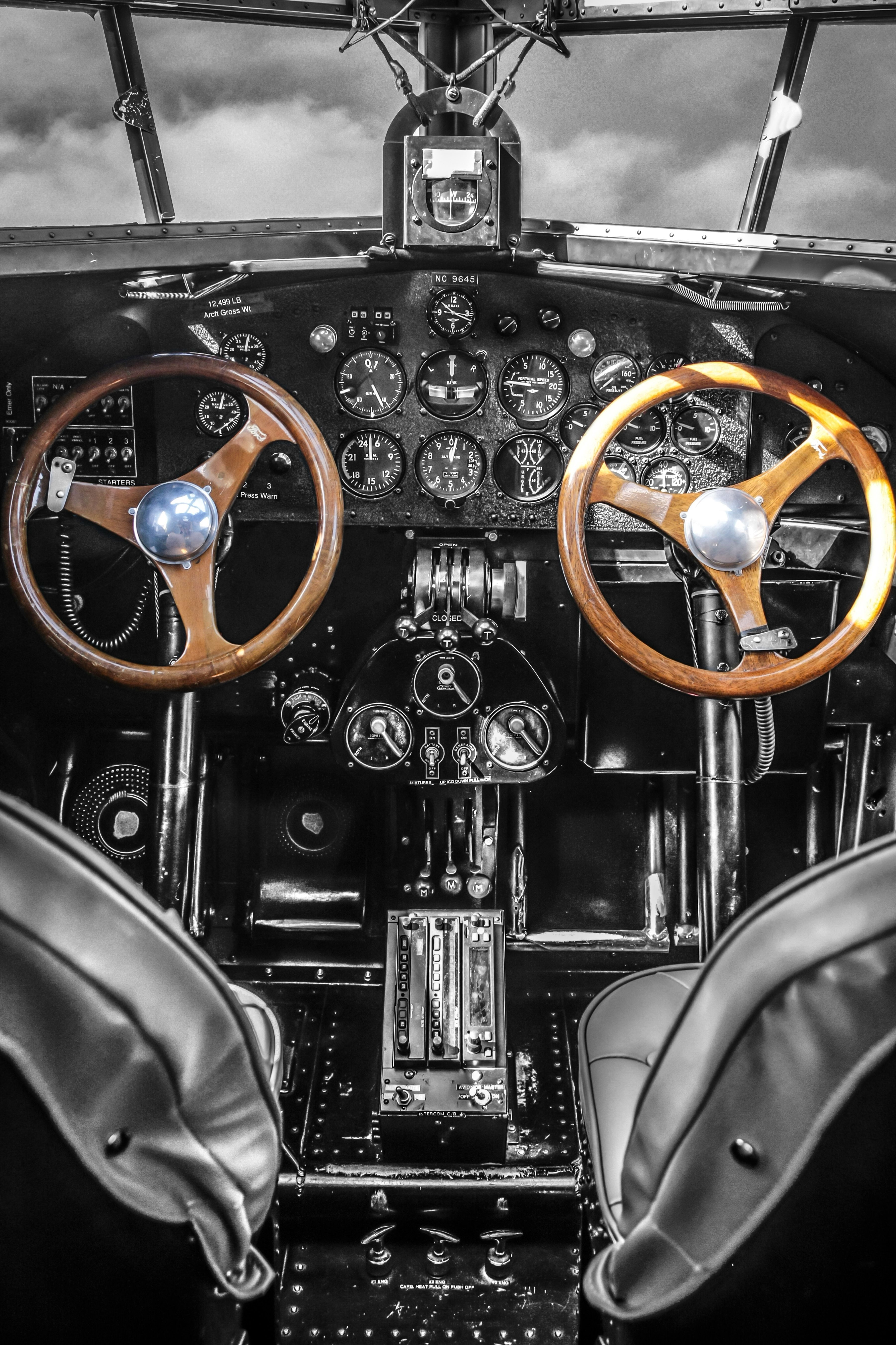 Ford Trimotor Cockpit Vintage Aviation Wall Decor Print