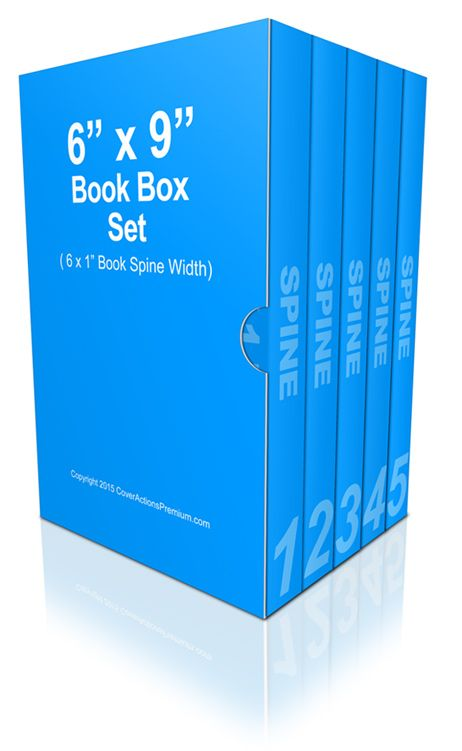 6 Book Box Set Mockup 6x9 Cover Actions Premium Mockup Psd Template Book Box Book Spine Books