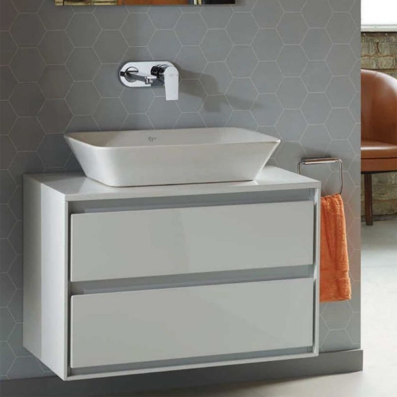 Mobile da bagno sospeso da 100 cm con lavabo da appoggio ideal standard conne bagno pinterest - Mobile bagno con lavabo da appoggio ...