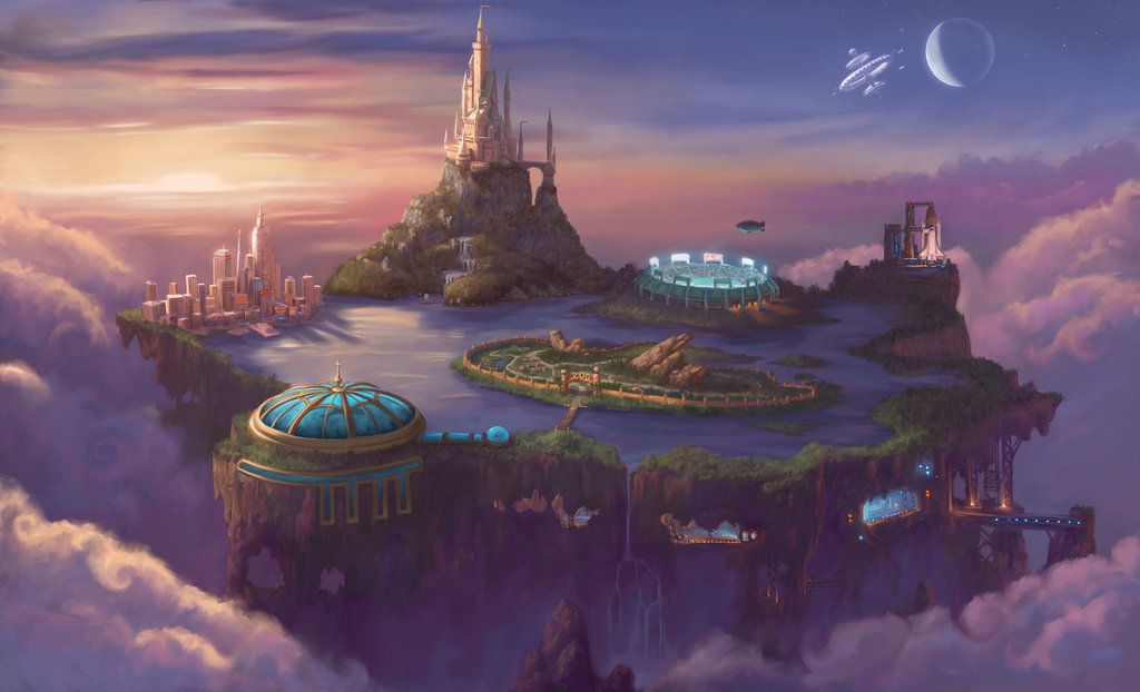 Future Fantasy Art | ITT; Cities from future/planets ...