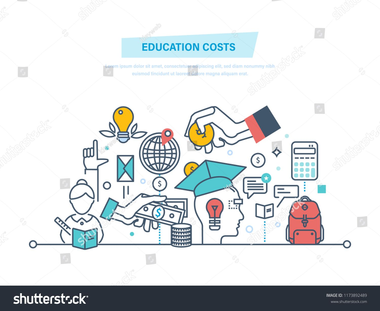 Education Cost Concept Invest Money In Education Study Cash Tuition Fees Tax Pay Spending Education Money Investme Investing Money Investing Tuition Fees