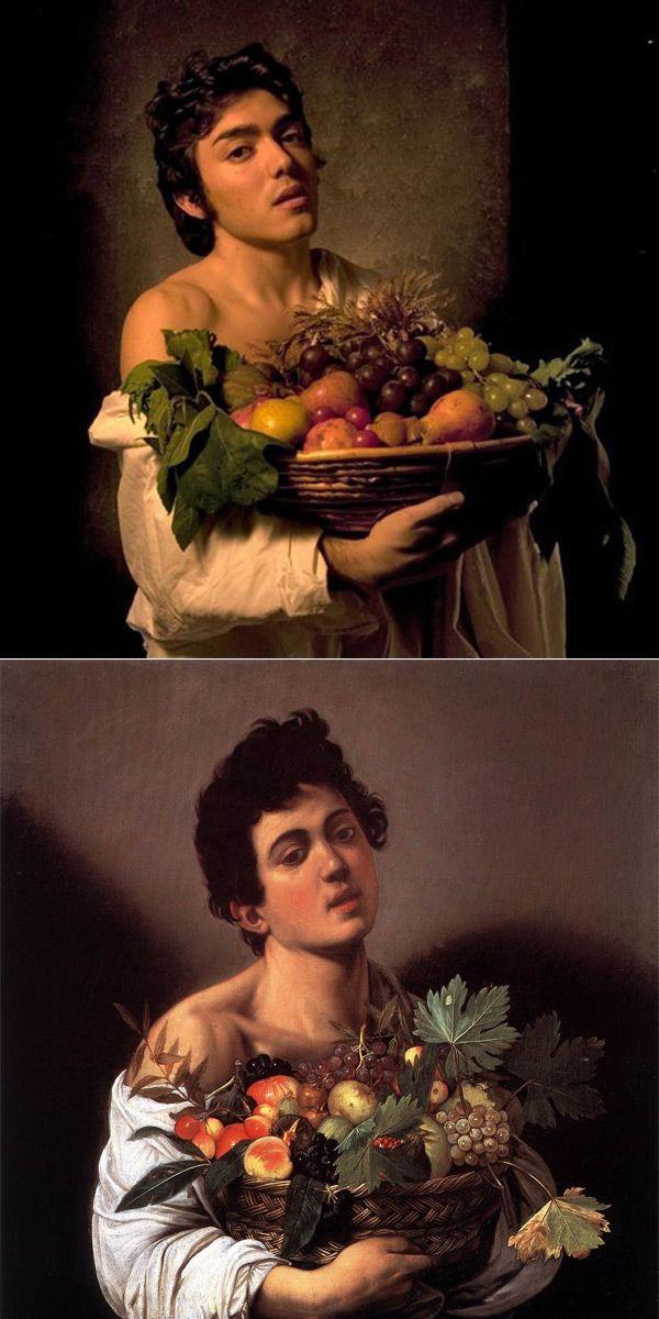 Caravaggio, Fanciullo con canestra di frutta, 1593
