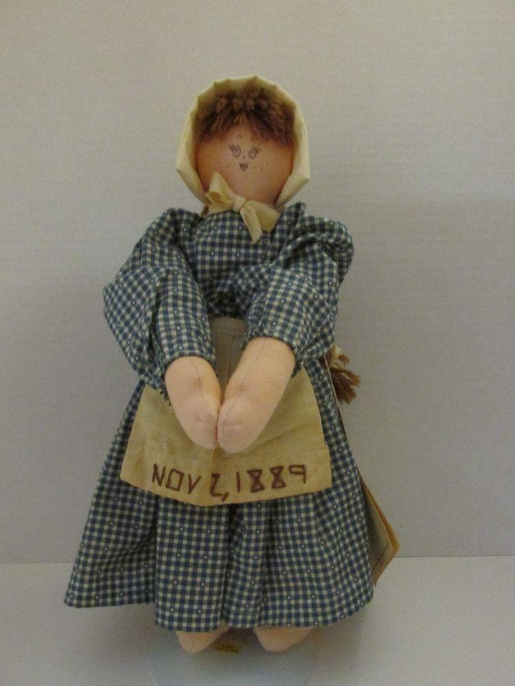 Rare Vintage 1988 Folk Dolls Friends Nory From North Dakota Usa